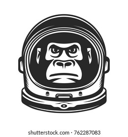 Monkey Astronaut. Gorilla in a spacesuit