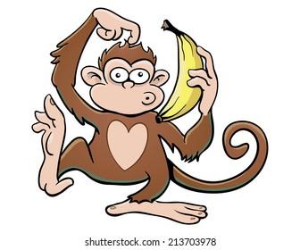 Monkey with Banana Phone