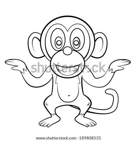 Monkey Cartoon Stock Vector Royalty Free 189808535 Shutterstock