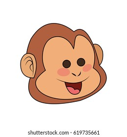 monkey cartoon icon image