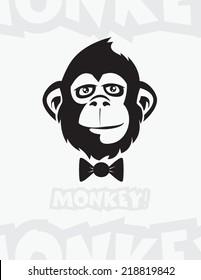 Monkey, chimp illustration