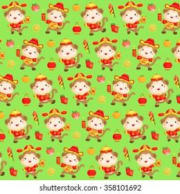 Monkey Chinese New Year Background