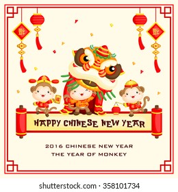 Monkey Chinese New Year Card