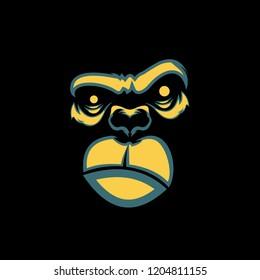 Monkey Face Illustration