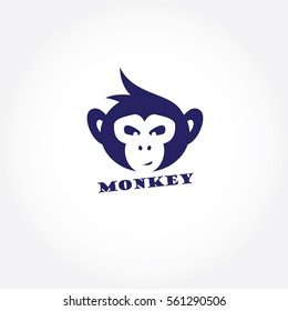 7f87b8c079 Monkey face logo, chimpanzee vector design, monkey icon vector.