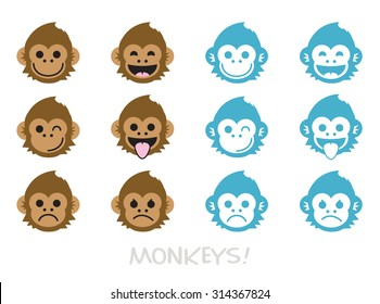 monkey face images stock photos vectors shutterstock