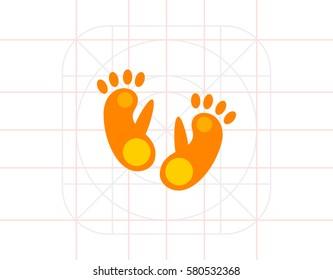 Monkey footprint icon