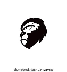 monkey gorilla head logo template silhouette