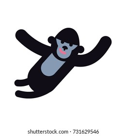 Monkey icon. King kong Vector