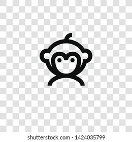 monkey icon from miscellaneous collection for mobile concept and web apps icon. Transparent outline, thin line monkey icon for website design and mobile, app development