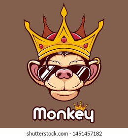 Monkey King Head Glasses mascot