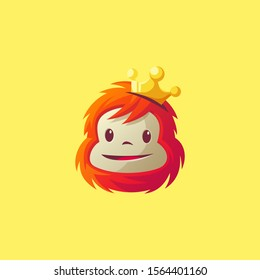 monkey king logo design vector illustration
