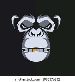 Monkey logo animal vector design.