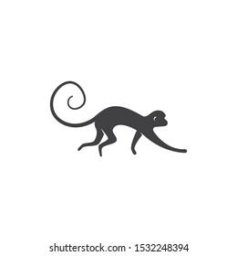 Monkey logo ilustration vector flat design
