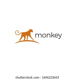 Monkey Logo simple and clean design for your business