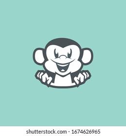 monkey logo simple , modern and neat.