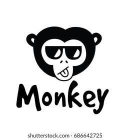 monkey logo template のベクター画像素材 ロイヤリティフリー