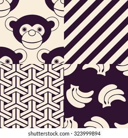 Monkey Patterns (Chinese Year of the Monkey)
