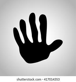 Monkey paw print icon