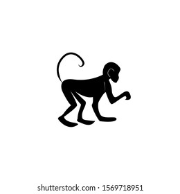 Monkey silhouette icon vector illustration