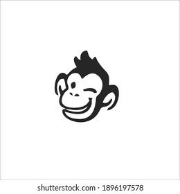 Monkey Symbol Logo. Vector Illustration.