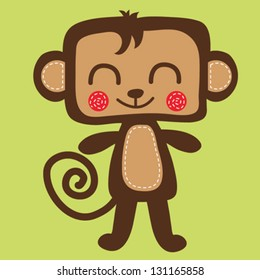 monkey / T-shirt graphics / cute cartoon characters / cute graphics for kids / Book illustrations / textile graphic