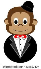 Monkey in tuxedo