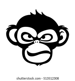 Monkey vector illustration, logo design template with monkey