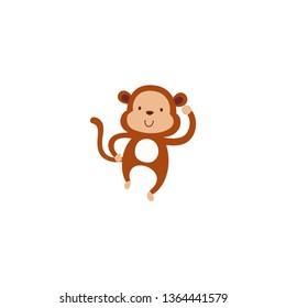 Monkey vector isolated flat illustration
