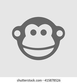 Monkey vector logo icon. Chinese year zodiac symbol 2016. Simple isolated sign.