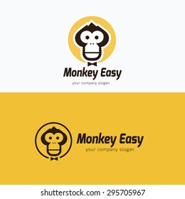 Monkey Vector Logo Template