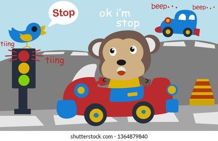 Imágenes, fotos de stock y vectores sobre The Car and Monkey