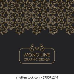 Mono line design template. Vector illustration