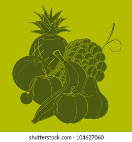 Monochromatic fruit