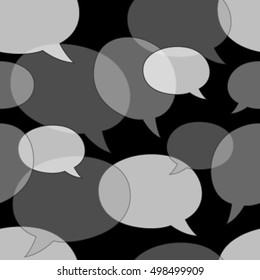 monochromatic speech bubbles seamless pattern