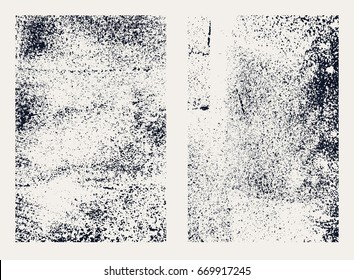 Monochrome abstract vector grunge textures. Set of hand drawn stains.