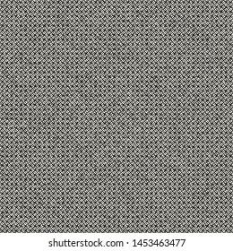 Monochrome Birdseye Weave Melange Textured Background. Seamless Pattern.