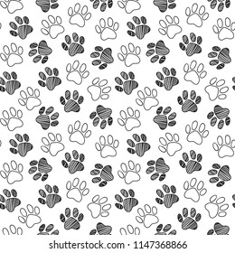 Paw Print Pattern Background Images Stock Photos Vectors Shutterstock 173 transparent png illustrations and cipart matching paw print. https www shutterstock com image vector monochrome black white dog cat pet 1147368866