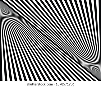 monochrome black and white lines background. optical illusion