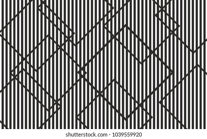 monochrome black and white vertical lines with rectangles. vector backgroud wallpaper concept for web and print