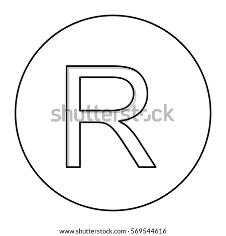 Monochrome Contour Currency Symbol Rand South Stock Vector Royalty