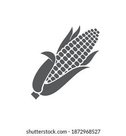 monochrome corncob icon isolated on white background