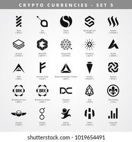 Monochrome Cryptocurrencies - SET 5