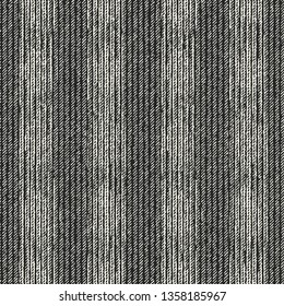 Monochrome Dashed Striped Brushed Effect Textured Background. Seamless Pattern.