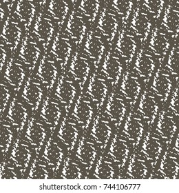 Monochrome ethnic pattern with rhomboid shapes. Abstract vector.