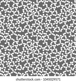 Monochrome floral seamless pattern. Repetitive abstract geometrical background.