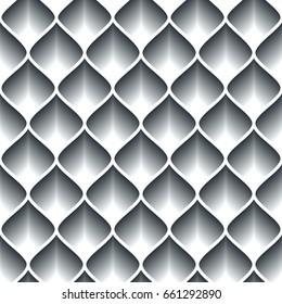 Monochrome geometric abstract seamless pattern.
