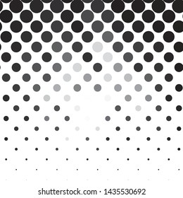 Monochrome geometric vector background. Abstract halftone illustration pattern. Vintage texture