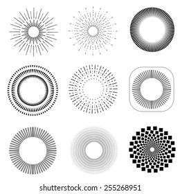 monochrome geometric vintage labels