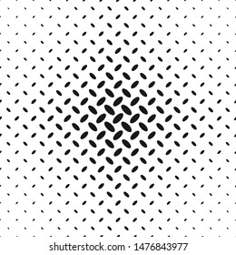 Monochrome geometrical abstract halftone diagonal ellipse pattern background - vector illustration
